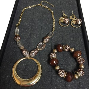 Other Three piece tiger eye set.