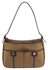 Tod's Canvas Leather Shoulder Bag