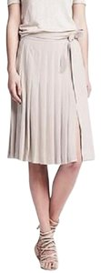 Banana Republic Midi Pleated Skirt White