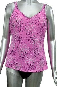 Miraclesuit Miraclesuit MALIBU PINK Floral Tankini Swimsuit 2 Piece Set Size 16