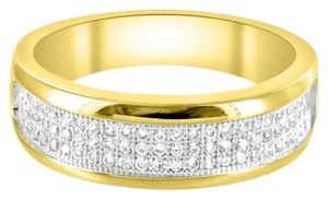 Other 14k Gold Finish Ring Custom Mens Elegant Wedding Lab Diamond Band In 925 Silver