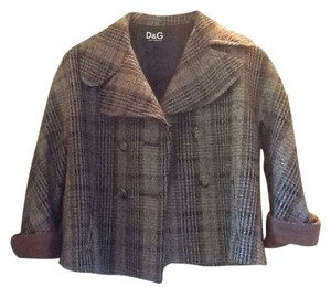 Dolce&Gabbana PLAID PEACOAT