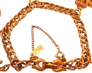 MONET Vintage 60's MONET double curb link Bracelet textured Gold-tone security chain Add as many charms as you like