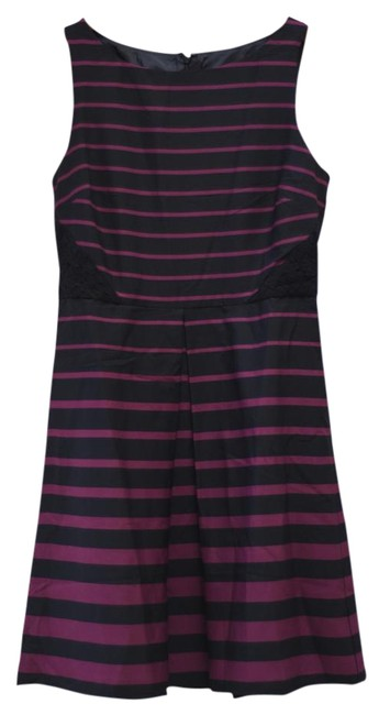 Ann Taylor LOFT Striped Lace A-line Fit Flare Dress
