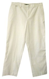Ralph Lauren Trouser Pants White, Blue