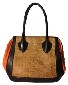 Pour La Victoire Color-blocking Crocodile Shoulder Bag