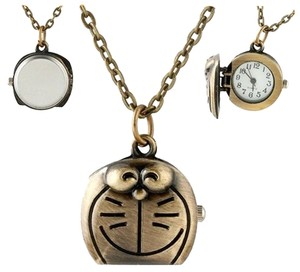 Other Cats Face Quartz Pocket Watch Necklace Free Shipping