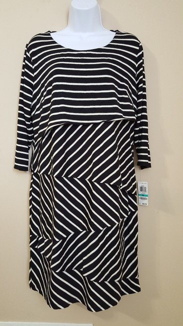 INC International Concepts short dress Black/ White on Tradesy