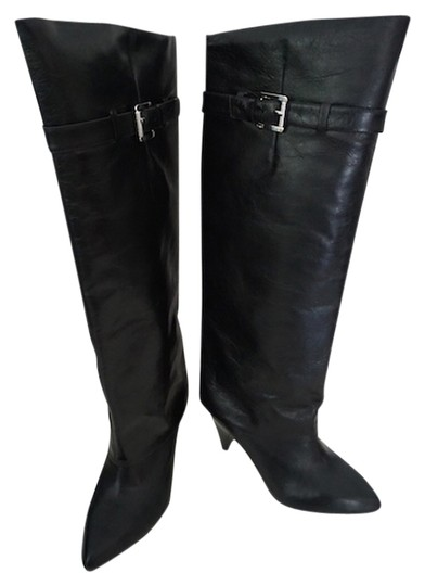 Michael Kors Ready To Wear Leather Winter Knee High Knee High Black Boots