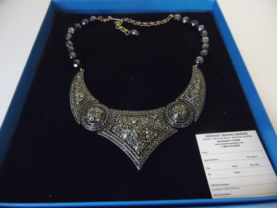 """Heidi Daus Heidi Daus """"Artful Antiquity"""" Crystal-Accented Necklace 15 Inch with 3 1/2 Inch Extender (NEW IN BOX)"""