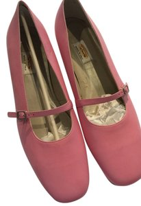 Talbots Mary Jane Italian Leather Pink Flats