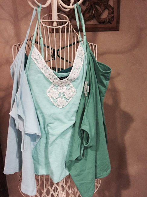 Ann Taylor loft, old navy, American eagle Top Shades of green