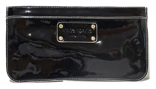 Kate Spade Kate Spade Pearl Street Zippered Chrissy Black Patent Leather Wallet