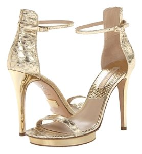 Michael Kors Collection Women Heels Sexy Ankle Fashion Gold Sandals