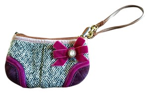 Coach Wristlet in Black, brown and pink