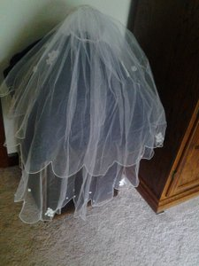 Pearl Edged Bridal Veil