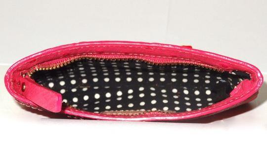 Kate Spade Kate Spade New York Red Pink Nylon Patent Leather Flat Pouch Wallet