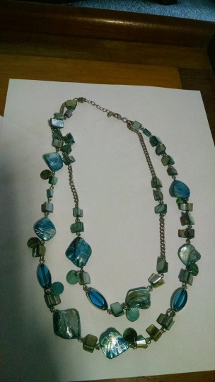 Other Double Strande Blue Shell Necklace A006