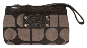 Kate Spade Kate Spade New York Noel Chocolate Brown Cotton Patent Leather Flat Pouch Wallet