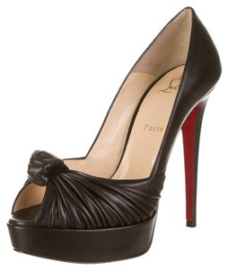 Christian Louboutin Leather Greissimo Black Pumps