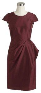 J.Crew Silk Peplum Garnet Dress
