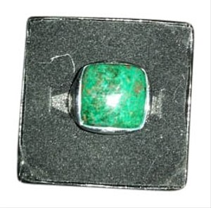 Billy The Tree Sterling Silver Ring with Cushion Chrysocolla Stone