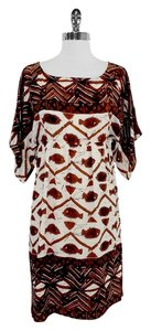 Anthropologie short dress Brown and Ivory Anna Sui Tribal on Tradesy