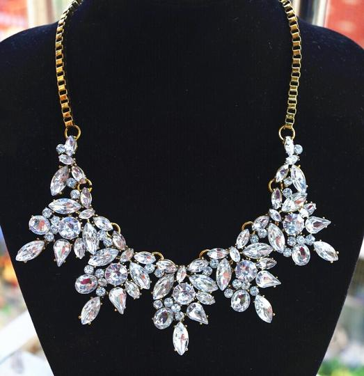 Sole Vintage Sole Vintage Crystal Flower Statement Necklace