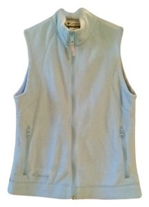 Columbia Blue Free Shipping Size S Fleeve Zip Vest