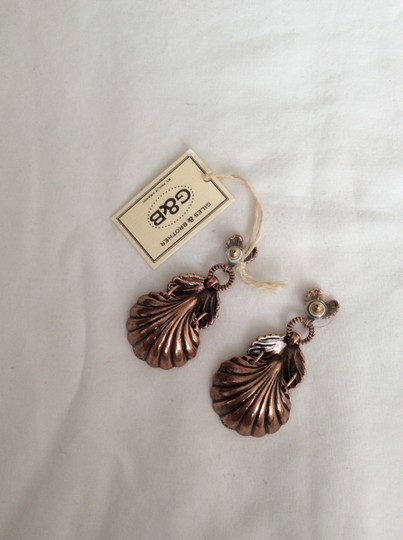 Giles & Brother Giles & Brother Rose Goldplated Shell Earrings