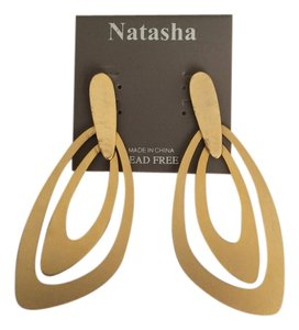 Other Natasha Gold Tone Flat Earrings