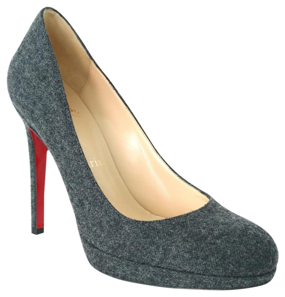 reputable site 6c88f 28565 Christian Louboutin Gray Grey New Simple 120 Mm Flannel 38 Pumps Size US 8  30% off retail