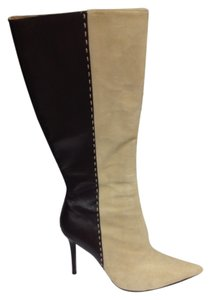 Colin Stuart Suede Leather Brown and Beige Boots