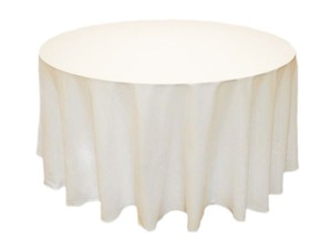 "Tablecloths Factory Ivory 120"" Round In Tablecloth"