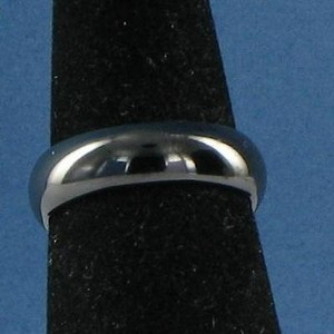 Edward Mirell 6mm Polished Black Titanium Dome Band Ring