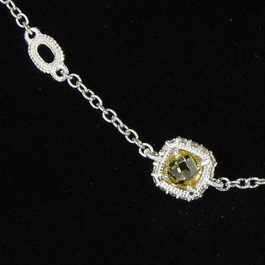 Judith Ripka Judith Ripka Arielle Stone Necklace Canary White Sapphires 925 Silver