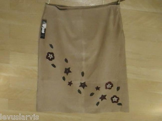 For Joseph Leather In Taupe Suede Is Knee Length Cute Skirt Beiges