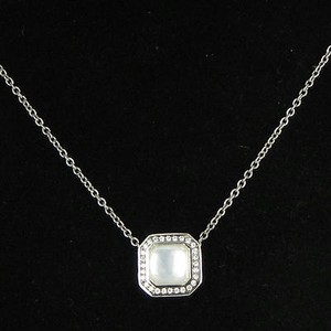 Ippolita Ippolita Stella Square Necklace 0.11cts Diamonds Mop Quartz 925