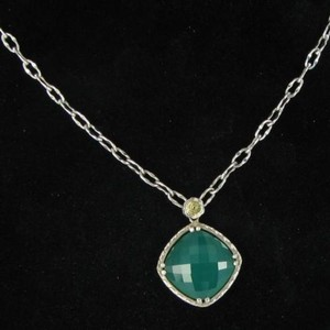 Tacori Tacori 18k925 Onyx Envy Gem Necklace Green Onyx Doublet 925