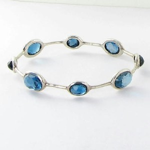 Ippolita Ippolita Rock Candy Stone Bangle Bracelet London Blue Topaz 925 Display