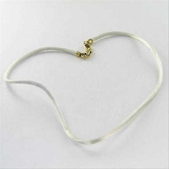 Aaron Basha Aaron Basha R100w White Silk Necklace 18k Yellow Gold Clasp Fittings