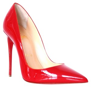 Christian Louboutin So Kate Patent Leather 36 Red Pumps