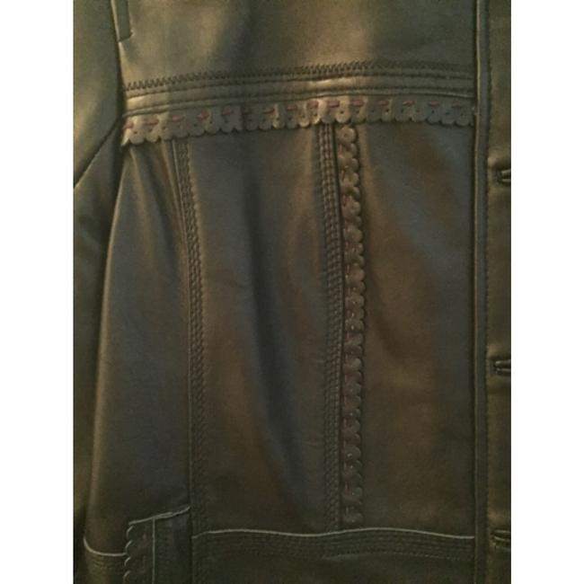 Style & Co Blac Leather Jacket