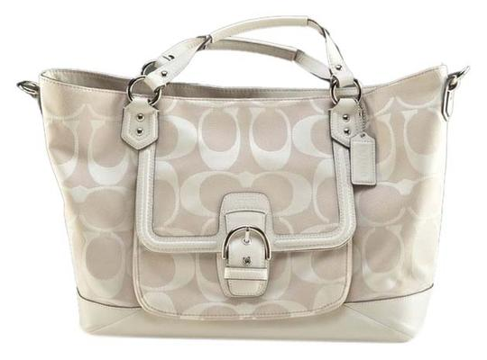 Coach Fashionista Casual Leather Monogram Handles Shoulder Bag