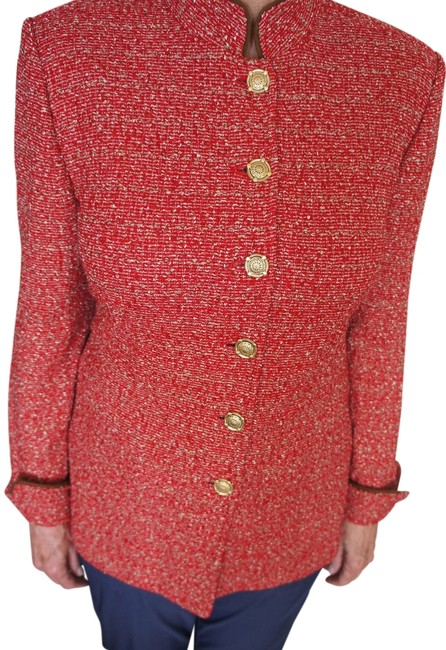 St. John Button Down Shirt Red