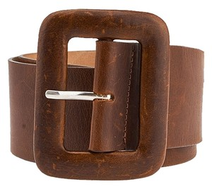 Streets Ahead Streets Ahead Brown Leather Belt, Size XS (3720)