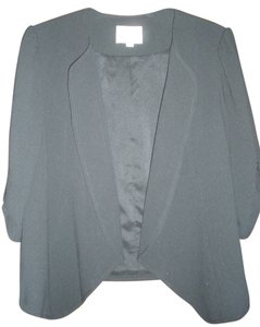 Ann Taylor LOFT Drape Front 3/4 Sleeves Black Jacket