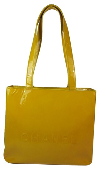 Preload https://item5.tradesy.com/images/chanel-leather-logo-tote-bag-yellow-5976919-0-0.jpg?width=440&height=440