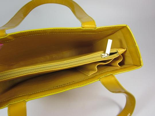 Chanel Leather Logo Tote in Yellow