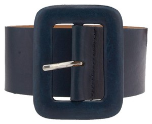 Streets Ahead Streets Ahead Blue Leather Belt, Size XS (3721)